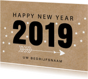 Nieuwjaarskaart 2019 kraftprint