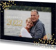 Nieuwjaarskaart met confetti en grote foto