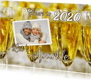Nieuwjaarskaart Sparkling New Year Cheers 2020