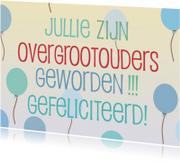 Felicitatiekaarten - Overgrootouders geworden -blauw
