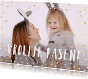 Paaskaarten - Paaskaart grote foto met hartjeskader