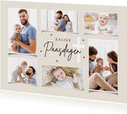 Paaskaart zalig pasen christelijk fotocollage hartjes