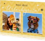 Postkarte Süße Urlaubsgrüße