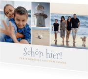 Postkarte Urlaub Bilderreihe