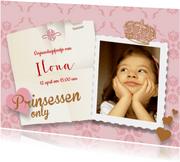 Prinses feestje uitnodiging