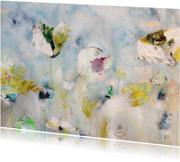 Print van bloemen schilderij