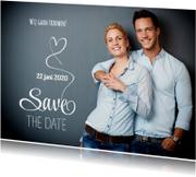 Save the Date fotokaart wit - SG