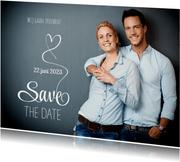 Save the Date fotokaart wit