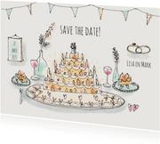 Save the Date Illustratie