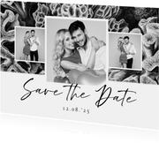 Save the Date zwart wit stijlvol foto natuur kunst koraal
