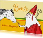 Sinterklaas - Sint en zijn paardje Ozosnel