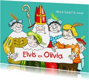Sinterklaas - Sinterklaas en vijf van zijn roetpieten