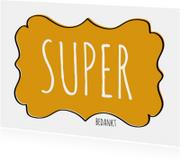 Super Bedankt Label - SG