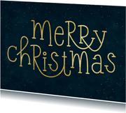Typografische kerstkaart Merry Christmas