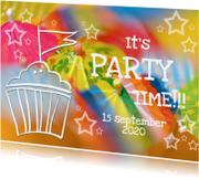 Kinderfeestjes - Uitnodiging Feest 4 - Paraplu OT