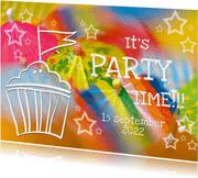 Uitnodiging Feest 4 - Paraplu OT