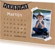 Uitnodiging foto kalender slinger kraftprint