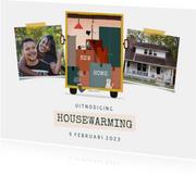 Uitnodiging housewarming met foto en verhuiswagen