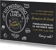 Uitnodiging Lunch krijtbord