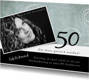 Uitnodigingen - Uitnodiging modern, 50ste verjaardag met cirkelpatroon