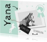 Uitnodiging paardenfeestje mint