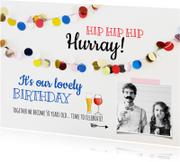 Uitnodiging verjaardag feest biertje wijn