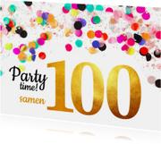 Uitnodiging verjaardag samen 100 goud