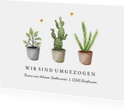 Umzugskarte Topfpflanzen