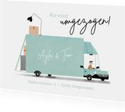 Umzugskarte Umzugswagen