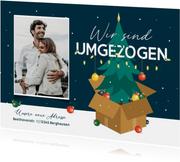 Umzugskarte Weihnachtsbaum im Karton