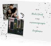 Umzugskarte zusammengezogen Fotos