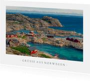 Urlaubs-Grußkarte mit Foto