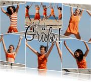 Urlaubs-Grußkarte mit sechs Fotos