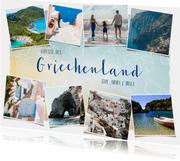 Urlaubsgrußkarte Bilderreihe