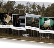 Urlaubskarte Polaroid Fotocollage 'Camping Grüße'