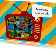 Vakantie Loeki tv hangmat -A