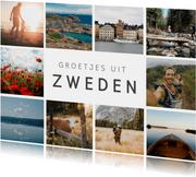 Vakantiekaart fotocollage ansichtkaart met 10 eigen foto's