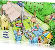 Vakantiekaart prettige vakantie voor kampeerders
