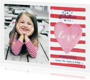 Valentijns Strepen Hart Love