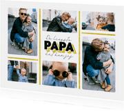 Valentijnsdag liefste papa fotocollage goud
