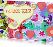 Valentijnskaart dikke kus Lind-y