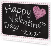 Valentijnskaart tekst krijtbord