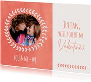 Valentinskarte 'Will you be my Valentine'