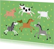 Varken koe schaap zebra paard ezel