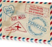Verhuiskaart airmail stoer