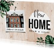 Verhuiskaart houtlook botanisch met foto