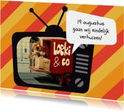 Verhuiskaart Loeki tv auto -A
