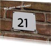 Verhuiskaarten - Verhuiskaart met huisnummer