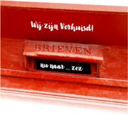 Verhuiskaart Retro Rode Brievenbus