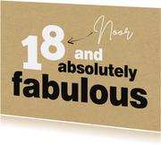 Verjaardag 18 and absolutely fabulous